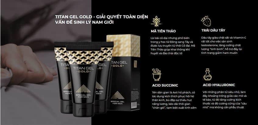 Gel titan gold chính hãng nga