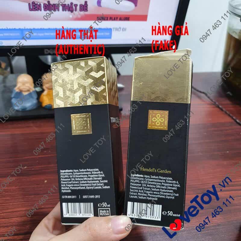 phân biệt hàng thật hàng giả gel titan gold